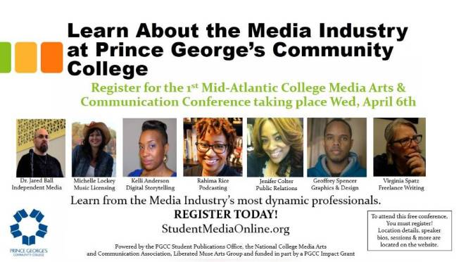 1st Mid-Atlantic College Media Arts & Communication Conference- April 6th
